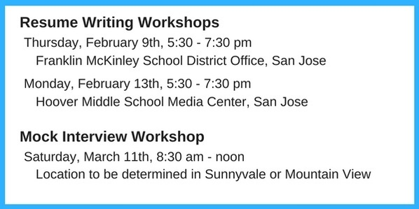 Resume Writing Dates January 2017 newsletter 7